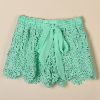 Lace Bow Shorts