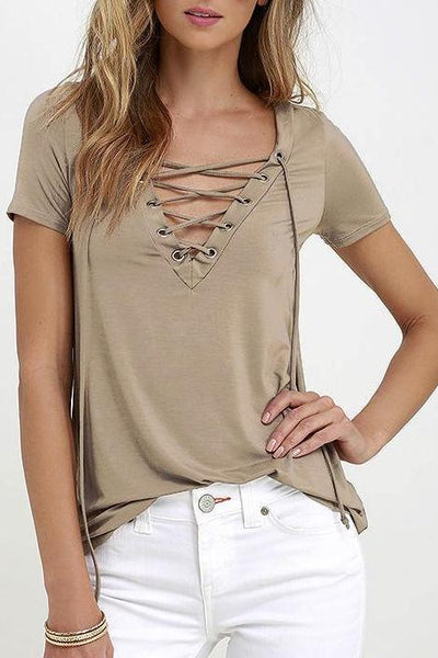 Lace Up Shirt