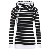 Side Zipper Striped Hoodie