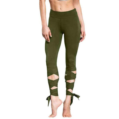 Bandage Lace Up Leggings