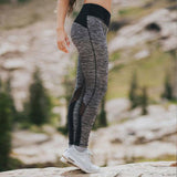 Gray Mesh Insert Leggings