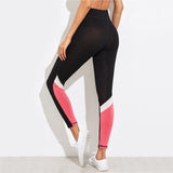 Pink Color Block Leggings