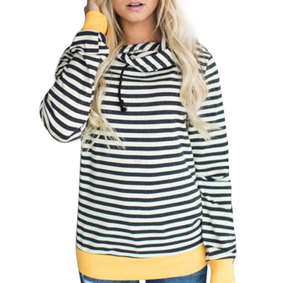 Striped & Yellow Color Pop Hoodie