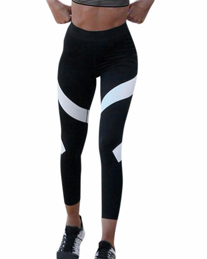 White Swirl Design Leggings