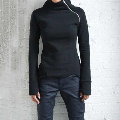 Side Zipper Sweatshirt
