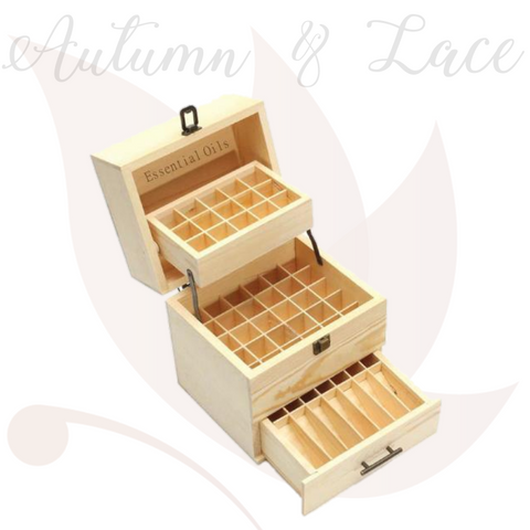 Essential Oils Wood Storage Box