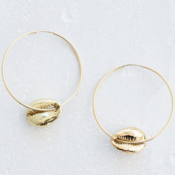 Golden Nani Hoops