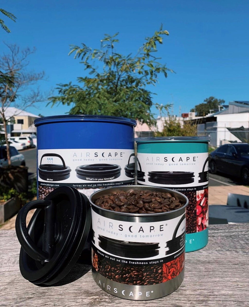 AIRSCAPE COFFEE CONTAINERS