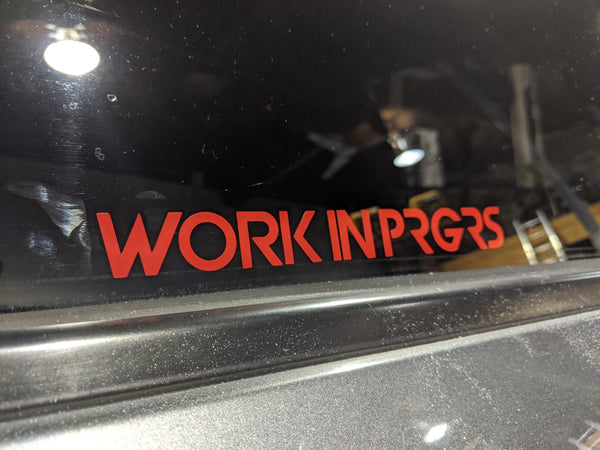 Work in PRGRS Diecut - Red
