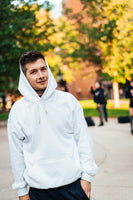 Simple Gold Hoodie - White