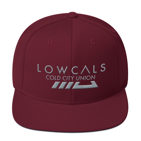 Cold City Snapback Hat - Maroon