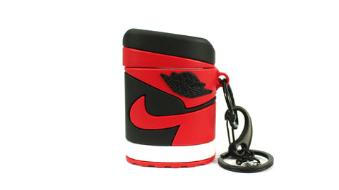 "Unique AJ 1 (I) AirPod Case - ""Bred"""