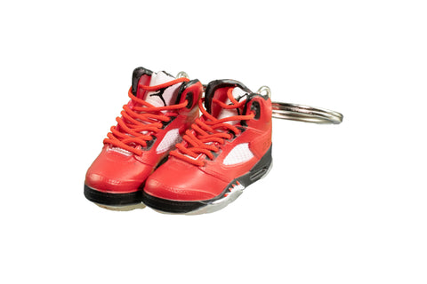 "Hand-Painted AJ 5 (V) Retro - ""Raging Bull"""