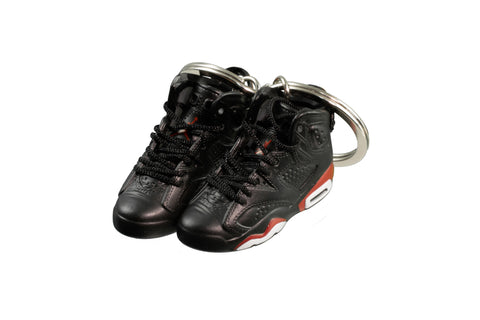 "Hand-Painted AJ 6 (VI) Retro - ""Black Infrared"""