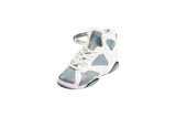 "Hand-Painted AJ 7 (VII) Retro - ""Flint Grey/Blue"""