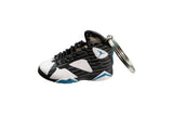 "Hand-Painted AJ 7 (VII) Retro - ""Black/White University-Blue"""