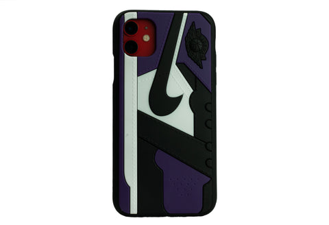 "Unique AJ 1 (I) Phone Case - ""Court Purple"""