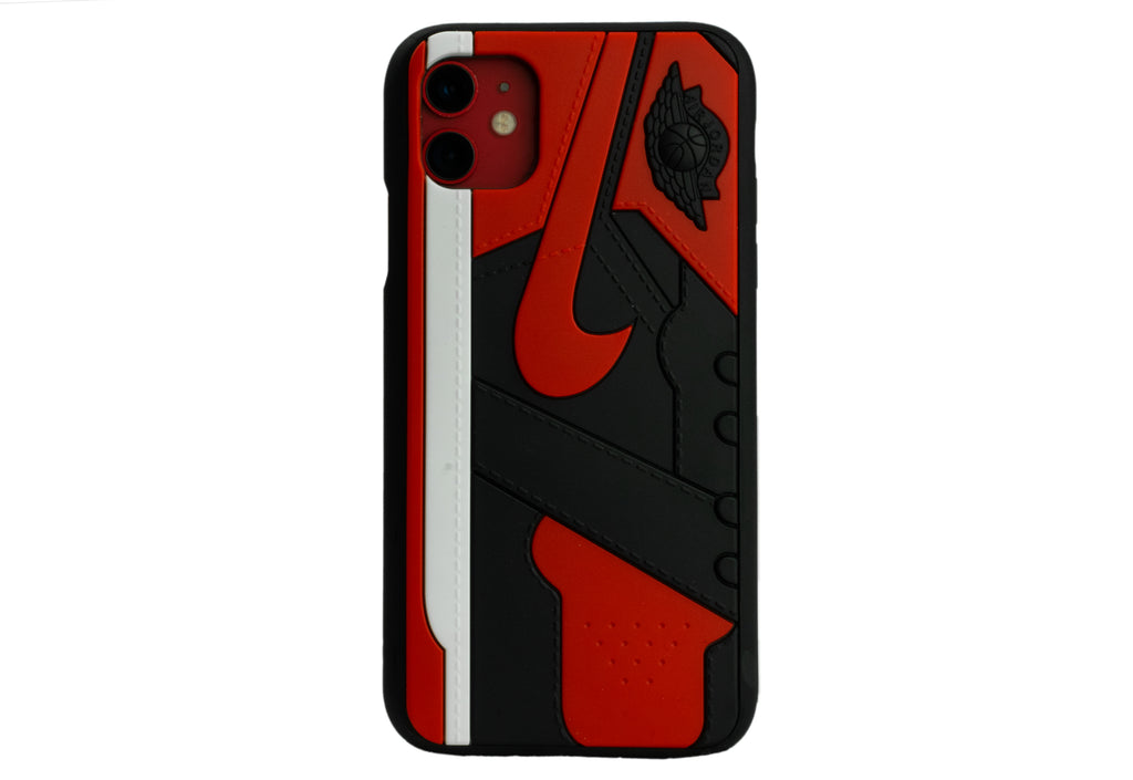 "Unique AJ 1 (I) Phone Case - ""Bred"""