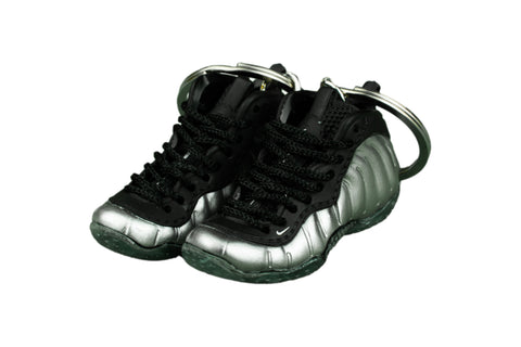 "Hand-Painted Air Foamposite - ""Metallic Silver"""