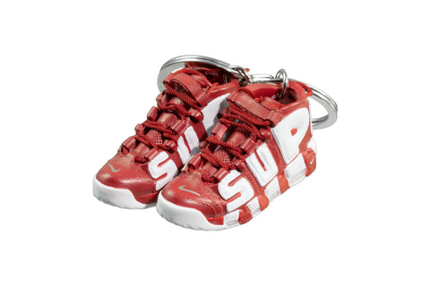 "Hand-Painted Air More Uptempo - ""Varsity Red"""