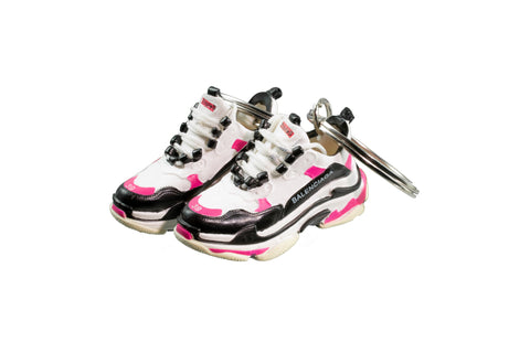 "Hand-Painted Wmns Triple S Trainer - ""Pink"""