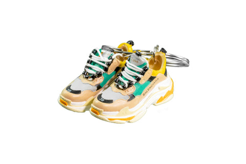 "Hand-Painted Triple S Trainer 2.0 - ""Green Yellow"""