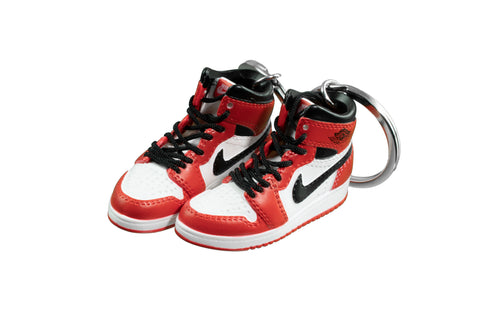 "Hand-Painted AJ 1 (I) Retro High OG - ""Chicago"""