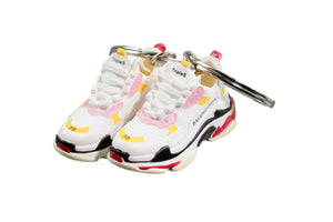 "Hand-Painted Wmns Triple S Trainer - ""White Yellow"""