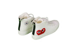 "Hand-Painted Comme des Garcons - ""PLAY White Chuck Taylor 70"""