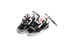 "Hand-Painted AJ 3 (III) Retro - ""Black Cement"""