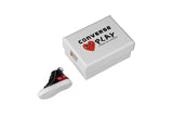 "Hand-Painted Comme des Garcons - ""PLAY Black Chuck Taylor 70"""