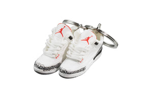 "Hand-Painted AJ 3 (III) Retro - ""White Cement"""