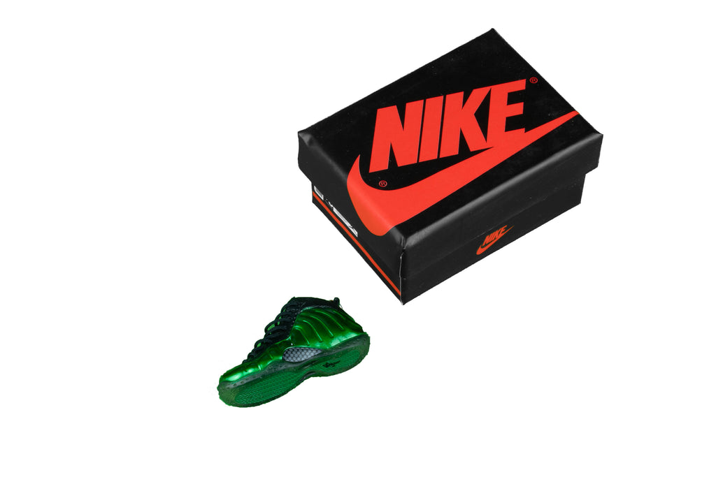 "Hand-Painted Air Foamposite - ""Metallic Green"""