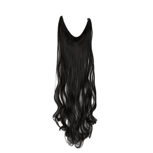 "Halo 20"" Wavy halo hair extensions black"