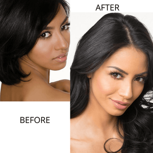 "Halos 20"" Wavy Halo Hair Extensions Black"