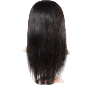 Human Wigs HUMAN HAIR STRAIGHT LACE FRONT WIG BLACK