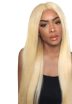 Human Wigs HUMAN HAIR STRAIGHT LACE FRONT WIG BLONDE