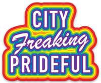 City Freaking Prideful Sticker
