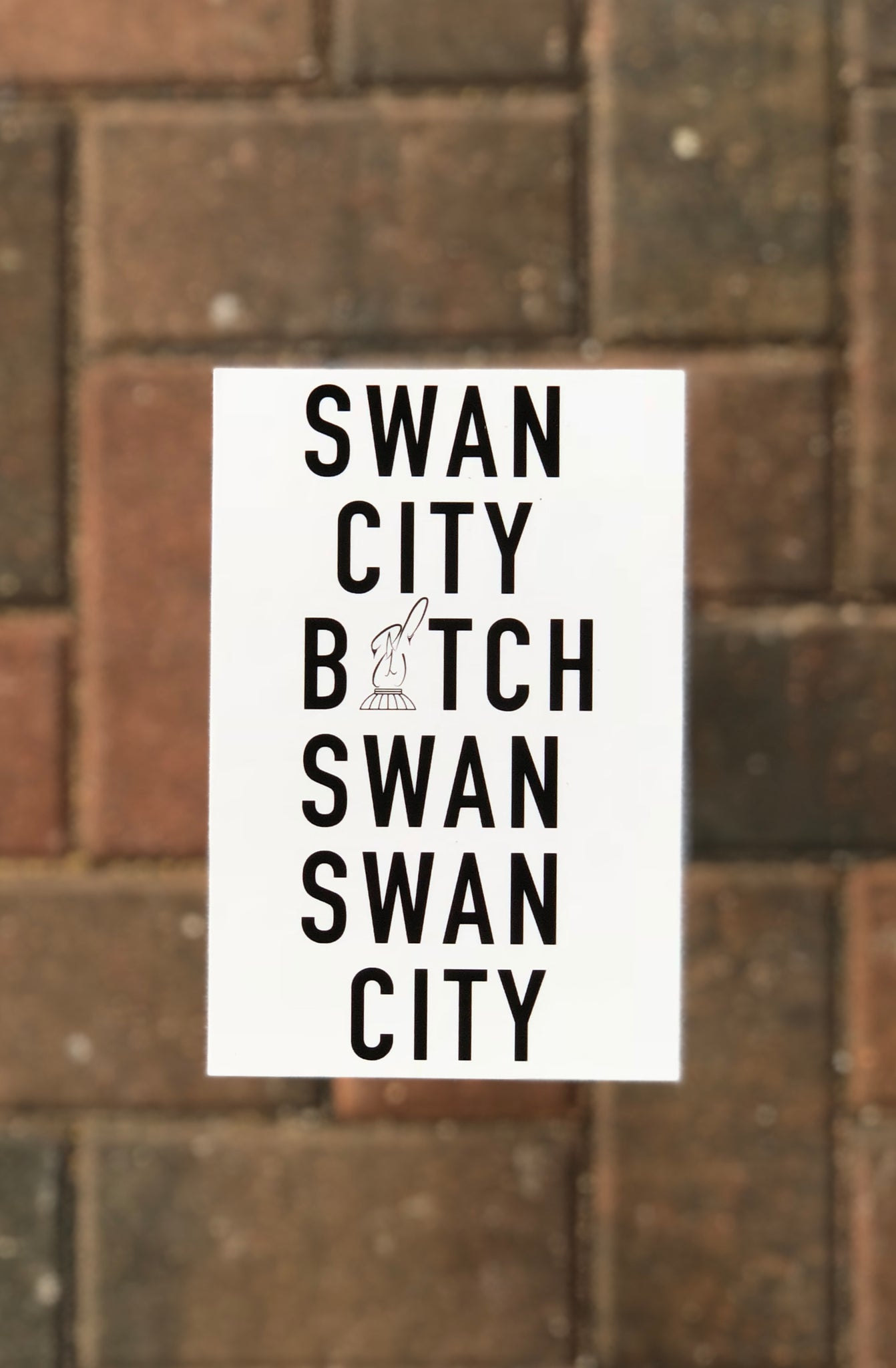 Swan City B*tch Postcard
