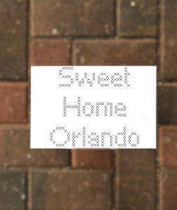 Sweet Home Orlando Postcard