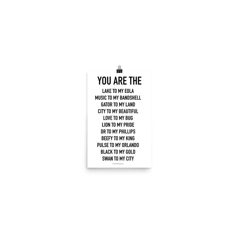 YOU ARE THE Poster - Orlando V1