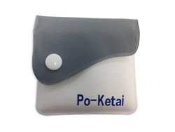 Po-Ketai Portable Heatstick Pocket Pouch Ashtray - Gray