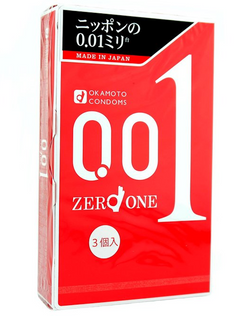 Okamoto 001 Condoms (3 Pack) Size: Medium
