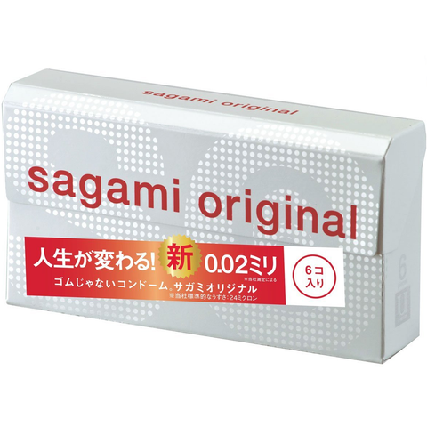 Sagami Original 0.02 Condoms (6 Pack)