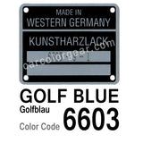 Golf Blue T-Shirt, Color Code 6603