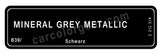 Mineral Grey Metallic T-Shirt, Color Code B39