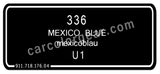 Mexico Blue T-Shirt, Color Code 336