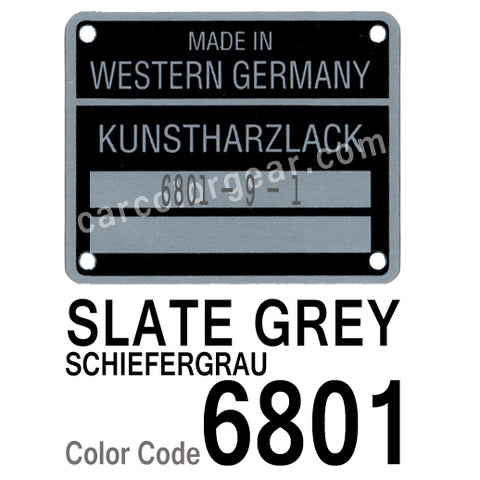 Slate Grey T-Shirt, Color Code 8601 – Car Color Gear