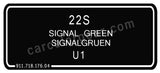 Signal Green T-Shirt, Color Code 22S