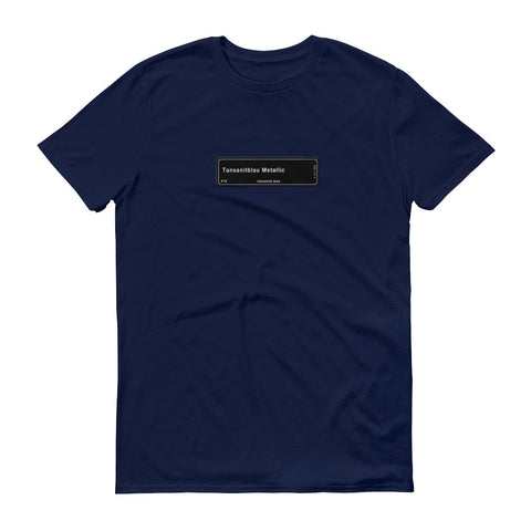 Tanzanite Blue Metallic T-Shirt, Color Code X10